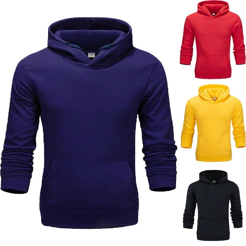 Autumn And Winter Hoodie Pure Color Hoodies  Male Long Sleeve Men Sport Hoodies  Men Hoodie Student Youth Hoodie Coat  Hoodies