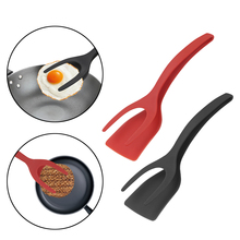 Silicone multifunction 2 in 1 Non-Stick Fried Egg Turners Pizza Steak Flip Shovel Frying
