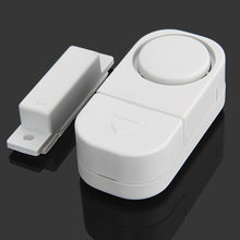Sensores da janela da porta entrada de alarme sem fio do assaltante autônomo magnético independente casa grande decibel segurança 90db alarme guardião