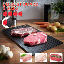 3Sizes Fast Defrosting Tray Thaw Frozen Food Meat Fruit Quick Defrosting Plate Board Defrost Kitchen Gadget Tool