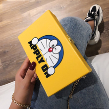 Cute Cartoon Cat Chain Bag 2020 Luxury Women Bags Fashion PU Leather Shoulder Crossbody Bag Ladies Handbag and Purses Clutch Box luxury womens bag alligator pu patent leather banquet clutch bag lady handbag fashion chain shoulder crossbody bag handbag party