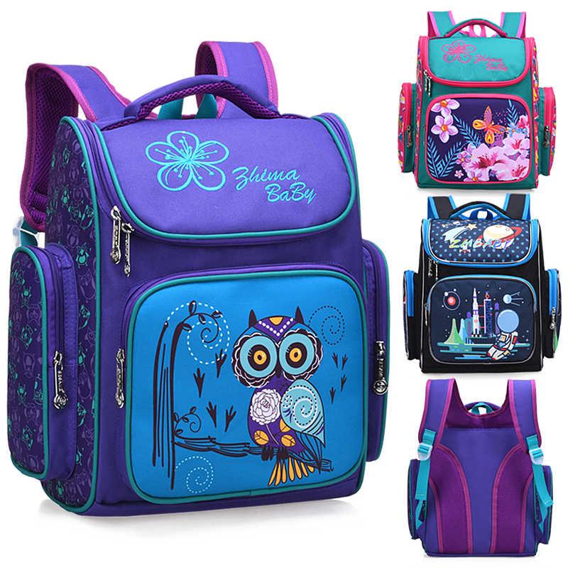 OKKID dzieci szkolne torby styl rosyjski szkoła podstawowa plecak dla dziewczynek kwiat torba na książki nadruk zwierzęta tornister dla dzieci prezent