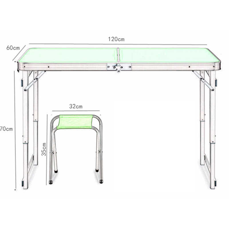 2019 Silla de mesa plegable al aire libre Camping de aleación de aluminio mesa de Picnic resistente al agua Ultra ligera mesa plegable de escritorio para