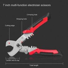 6/7 zoll Zangen DIY Elektriker Werkzeuge Multifunktions Abisolierzange Crimpen Zangen F-Beste