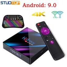 H96 MAX Smart Tv Box Android 9.0 Set Top Box 4K Mi ni Tv Box RK3318 4gb 32gb 64gb Quad Core media player PK X96 HK1 A95X MAX android 9 0 tv box hk1 mini 4gb ram 32gb 64gb rom rk3318 quad core smart tv box 2 4 5 0g wifi bt4 0 4k 3d set top box