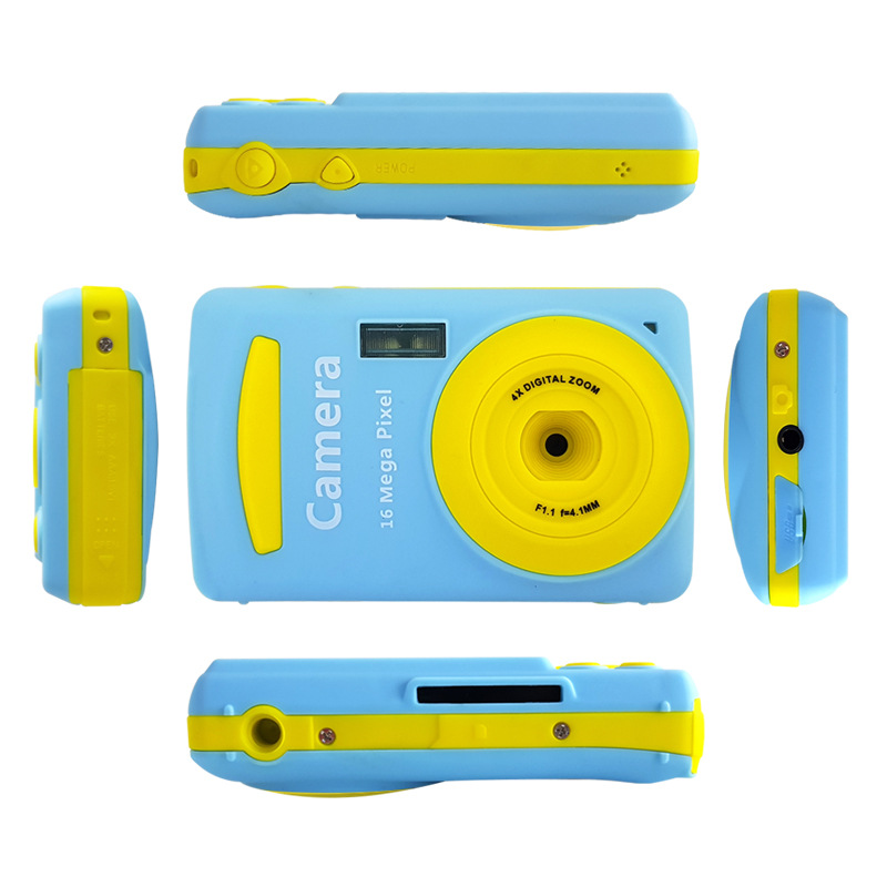 16MP Portable 2.4 HD Screen Children Digital Camera 720P Anti-Shake Face Detection Camcorder Blank point and shoot camera