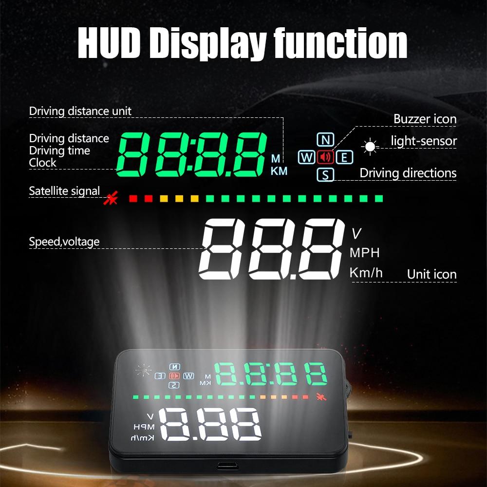 A3 3.5 inch Car HUD Head up display OBD II EUOBD Computer Speedometer hud film Car electronics Overspeed Voltage Alarm DFDF