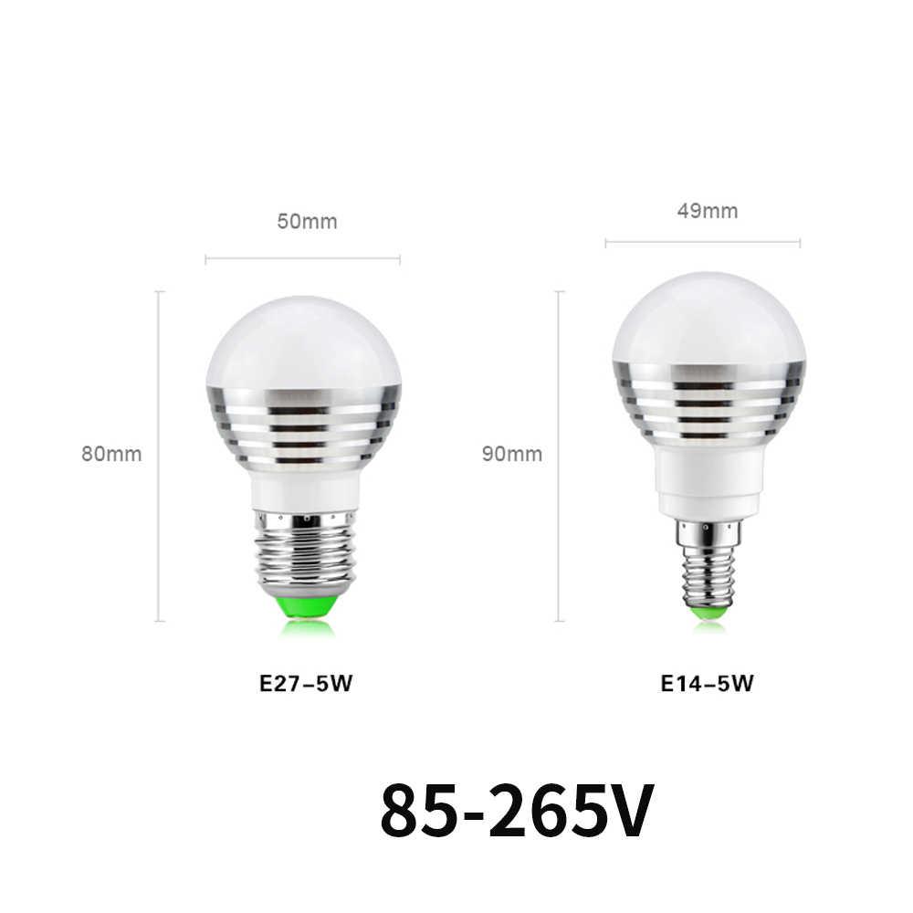 E27 بلوتوث RGB LED لمبة مصباح E14 LED مصباح مع الأشعة تحت الحمراء التحكم عن بعد ضوء لمبة داخلي ديكور المنزل الذكية IC الإضاءة مصباح