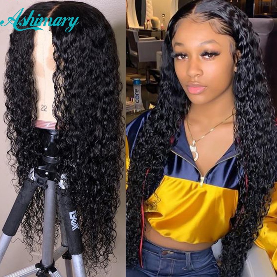 13X6 Lace Front Human Hair Wigs  Water Wave Wig Remy Human Hair Wigs Curly Human Hair Wig For Women 150% Density