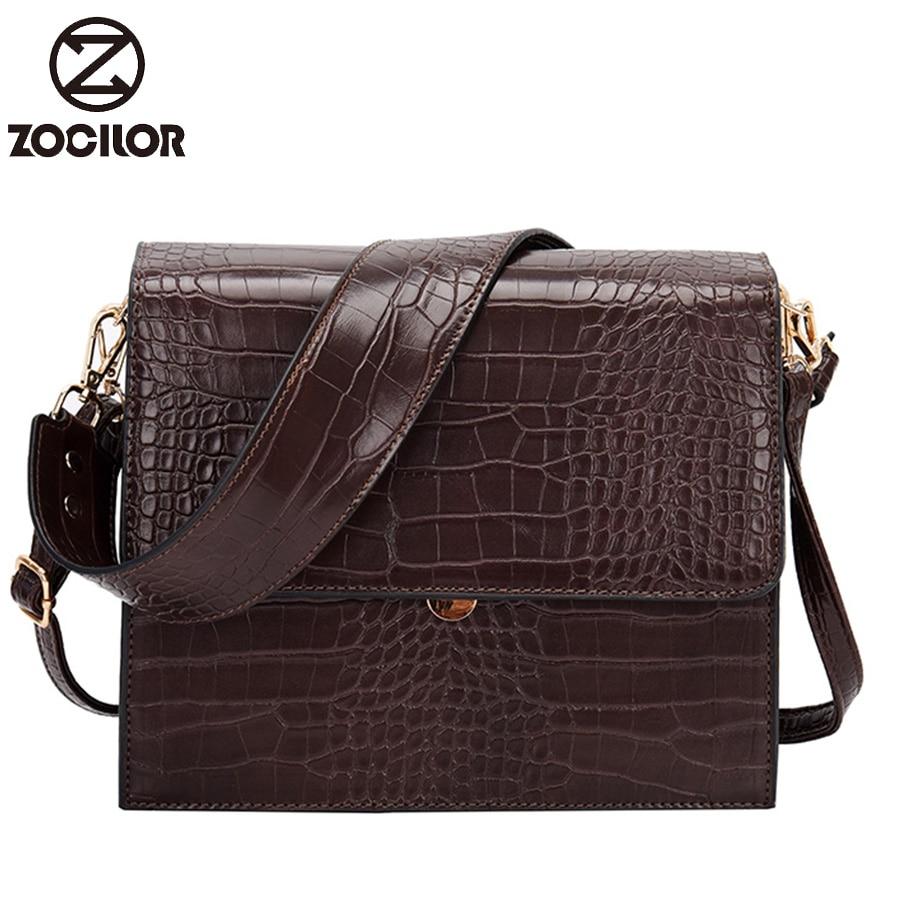Fashion Simple Women's Designer Handbag New Quality PU Leather Women Tote Bag Alligator Shoulder Crossbody Bags