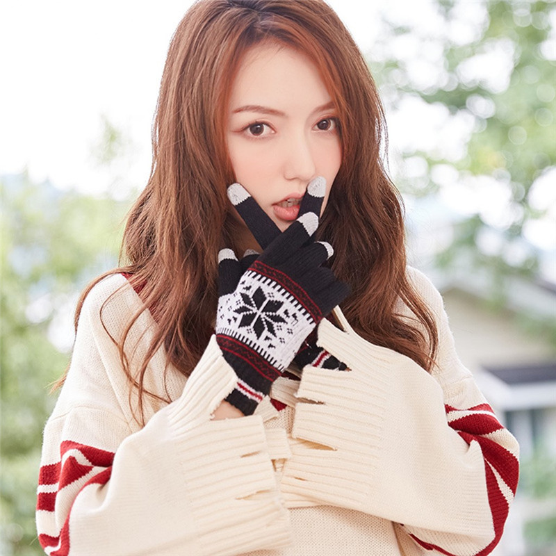 Women Men Multi-function Couple Riding Screen Winter Gloves Soft Warm Mitten Dropshipping Decoration Accessories Discount O24