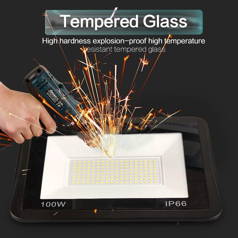 LED Floodlight 220V PIR Motion Sensor LED Spotlight 10W 20W 30W 50W 100W Outdoor Wall Reflector Lighting Waterproof Garden Lamp 5