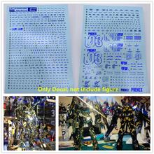 D.L high quality Bronzing blue Decal water paste For Bandai MG 1/100 RX 0 Unicorn Gundam 03 Phenex DL151