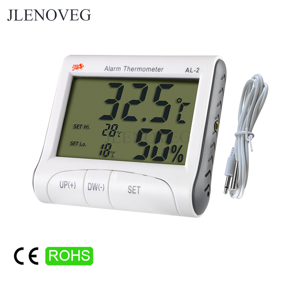 C / F Outdoor LCD Digital Thermometer Temperature Range Alarm Setting Humidity Meter Tester Hygrometer Weather Station