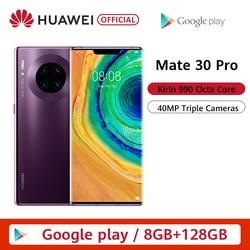 Перейти на Алиэкспресс и купить original huawei mate 30 pro 8g 128gb smartphone 6.53'' screen kirin 990 triple cameras 40mp front camera 32mp android 10 emui 10