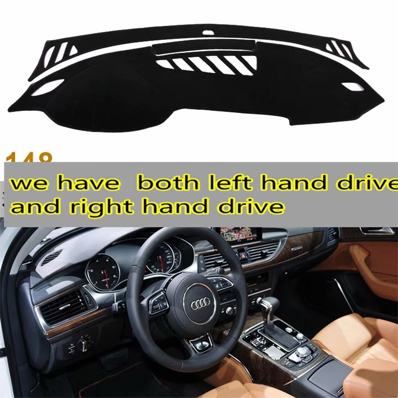For Audi A6 C7 S6 Avant Sedan 2013 2014 2015 2016 Dashmat Car-styling Accessories Dashboard Cover Car Dash Mat Sun Shade Carpet image