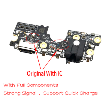USB Charging Port Board Flex Cable Connector Parts For ASUS ZenFone 6 2019 ZS630KL Microphone Module