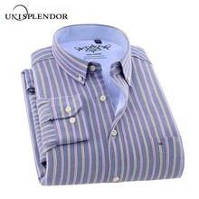 New Autumn Winter Men Shirts Thicken Cotton Warm Striped Solid Man Shirt Plus velvet Casual Homme Oxford Textile YN10521