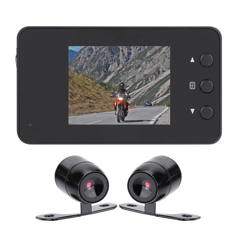 3 pouces moto moto double caméra Action vidéo Dash Cam enregistreur Dvr 1080P 140 degrés Ultra grand Angle objectif