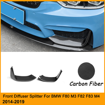 F82 M4 Carbon Diffuser Cupwings Splitter For BMW F80 M3 F82 F83 M4 Front Bumper Lip Body Kit Exterior Cover 2014-2019 image