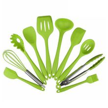 10 Pcs Kitchenware Silicone Heat Resistant Kitchen Cooking Utensils Non-Stick Baking Tool Cooking Tool Sets недорого