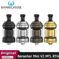 Vandy-vaporizador de tubo de aire híbrido Berserker Mini V2 MTL RTA, Original, 2ML, atomizador de cigarrillos electrónico, VandyVape BSKR