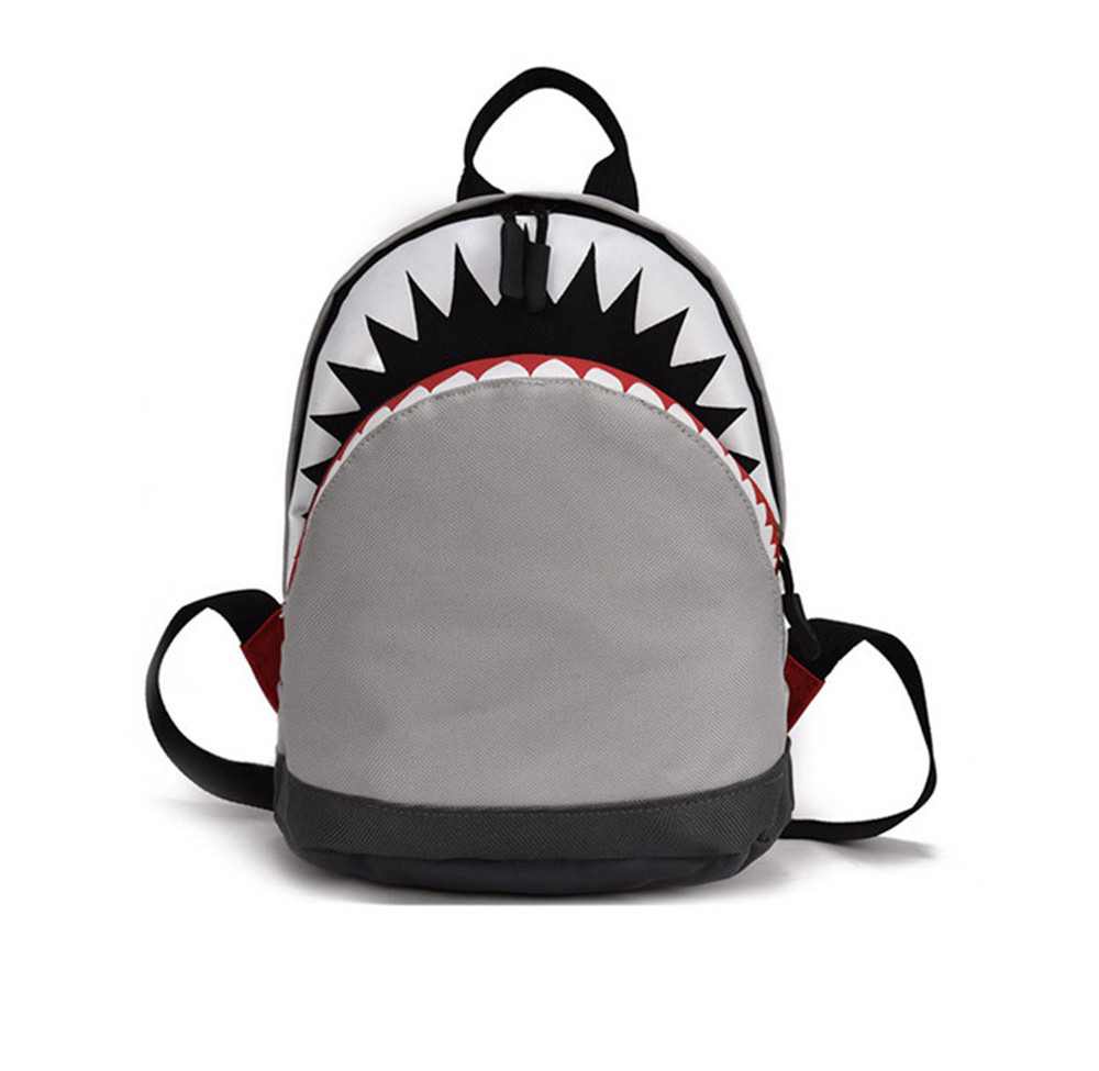 3D Cartoon Shark Backpack age 1-3 Toddler Canvas backpack Kids Children bookbag Kindergarten School bag for girls boys Mochila