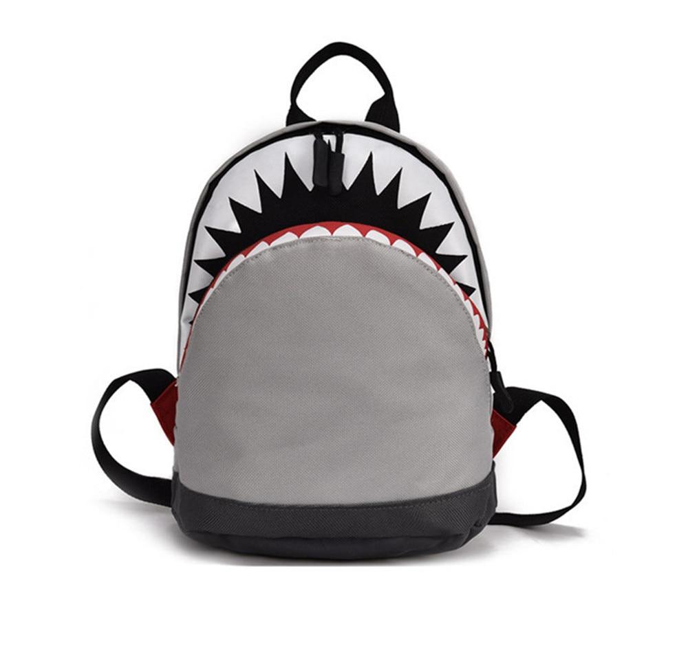 3D Cartoon Shark Backpack Age 1-3 Toddler Canvas Backpack Kids Children Bookbag Kindergarten School Bag For Girls Boys Mochila