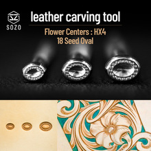 Carving-Tool Embossing-Stamps SOZO Stamping-Print DIY HX4 Centers Flower Oval 18-Seed