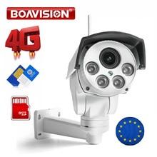 1080P 3G 4G PTZ Camera Outdoor SIM Card Camera P2P Support Micro SD Card Storage Security Cam 10X Zoom Lens CCTV Cameras
