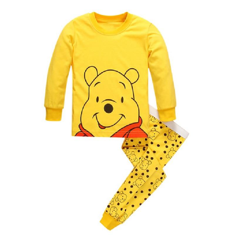 2019 Autumn Kids Boys Girls Clothes Baby Pajamas Long Sleeved Cartoon Children's Bear Edward Sleepwear