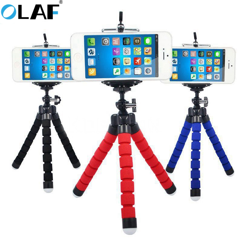 Olaf Phone Holder Portable Flexible Octopus Tripod Phone Desktop Stand For IPhone X 7 Samsung Huawei Xiaomi Mobile Phone Holder