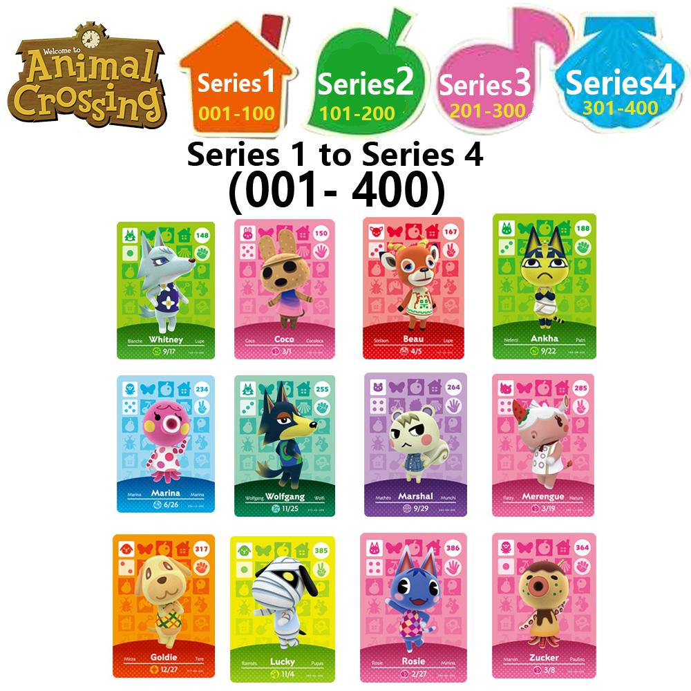 Animal Crossing Card Amiibo Locks Nfc Card Work For NS Games Series 1 To Series 4