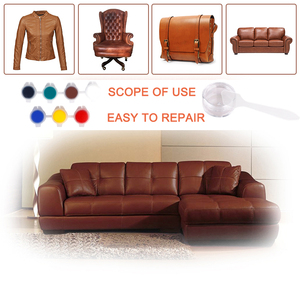 Image 4 - LUDUO Vinyl Liquid Leather zestaw naprawczy klej wklej fotelik samochodowy poprawa stanu skóry Refurbish odzież buty Boot Fix Crack z 10 sztuk Patch