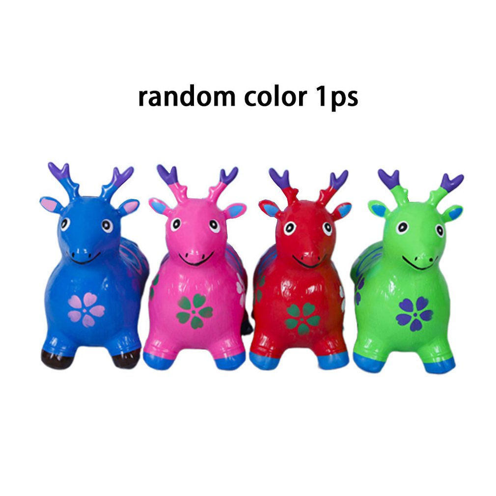 Jumping Horse Riding Animal Toys Kids Animal Bouncy Horse Hopper Toys Inflatable Bouncer Baby Play Outdoor/Indoor Toys Hand Pump|Ride On Animal Toys| |  - title=