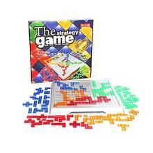 O jogo de estratégia blokus jogo de tabuleiro educativo toyssquares jogo fácil de jogar para crianças série jogos internos