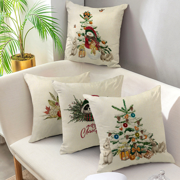 Christmas Cushion Cover Decorative Pillow Cover Home Decor Sofa Bed Christmas Decor Pillowcase for Home Throw Pillow Case 45*45 pink feather pillowcase decorative sofa cushion case bed pillow cover home decor car cushion cover cute pillow case 45 45cm