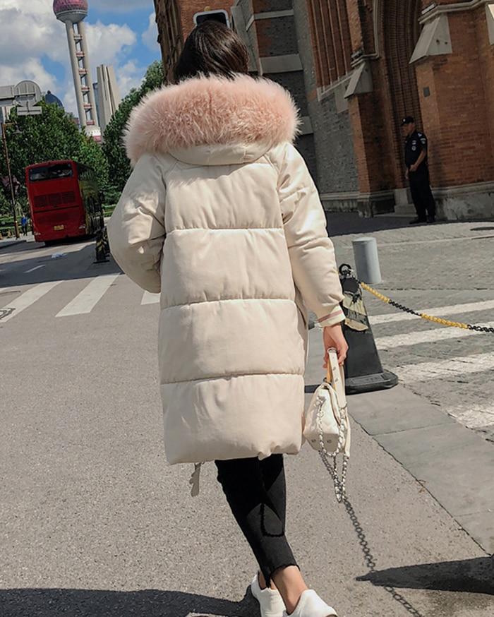 2019 High Quality Winter Jacket Women Velvet Fabric Hooded Thicken Fur_B1_12