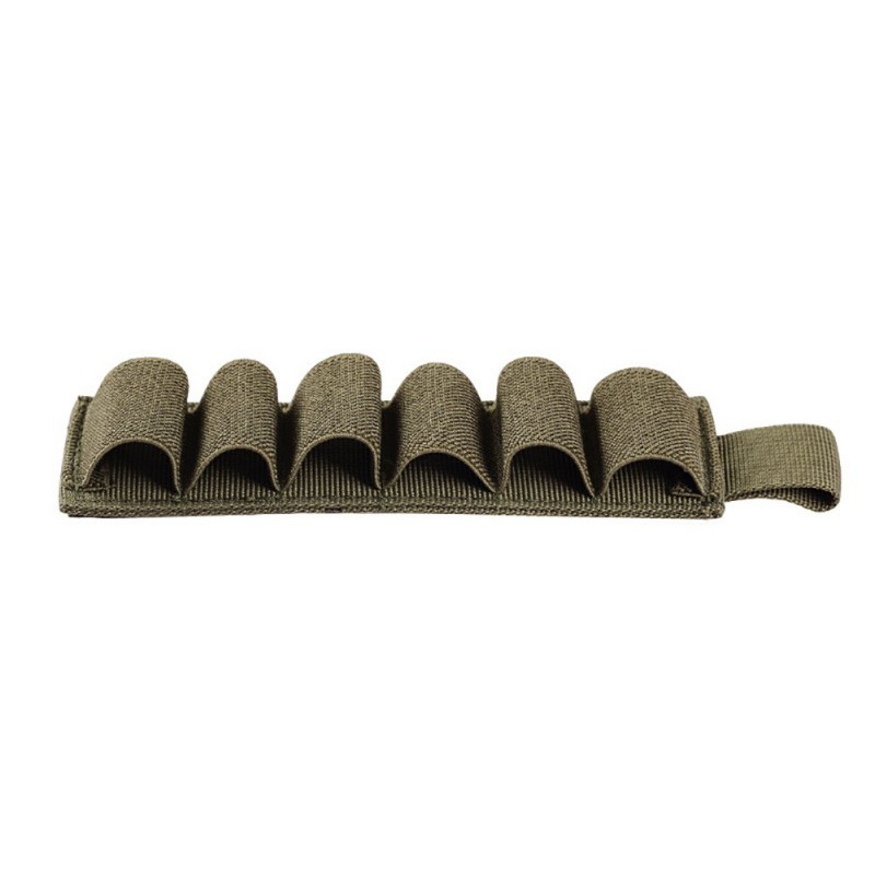 Tactical Hook Loop 6 Rounds Hunting Molle Pouch Insert Strip Paper With Rear Sticker For 12 Gauge