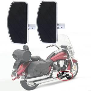 2pcs Black Front Rider Foot Pedals for Honda Magna VF 250 750 for Yamaha V-STAR DragStar 650 XV Foot Rest Pegs Footboard(China)