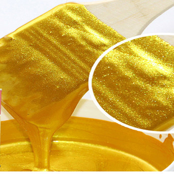 100g / 1kg Hot stamping bright Gold paint,Metal lacquer, wood paint, tasteless water-based paint,Can be applied on any surface