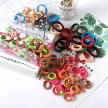30/100PCS/Lot Children Cute Small Ring Rubber Bands Tie Gum Ponytail Holder Elastic Hair Band Headband Girls Hair Accessories(China)