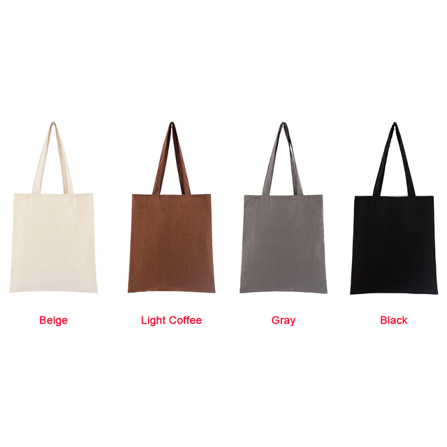 Universal Shopping Bag Large Capacity Cotton Blend Solid Tote Eco Freindly Multipurpose Reusable Natural Storage School #734 5
