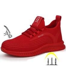 Размера плюс, Мужская зимняя защитная Рабочая обувь со стальным носком, полусапоги, Мужская безопасная небьющаяся обувь со стальной средней подошвой