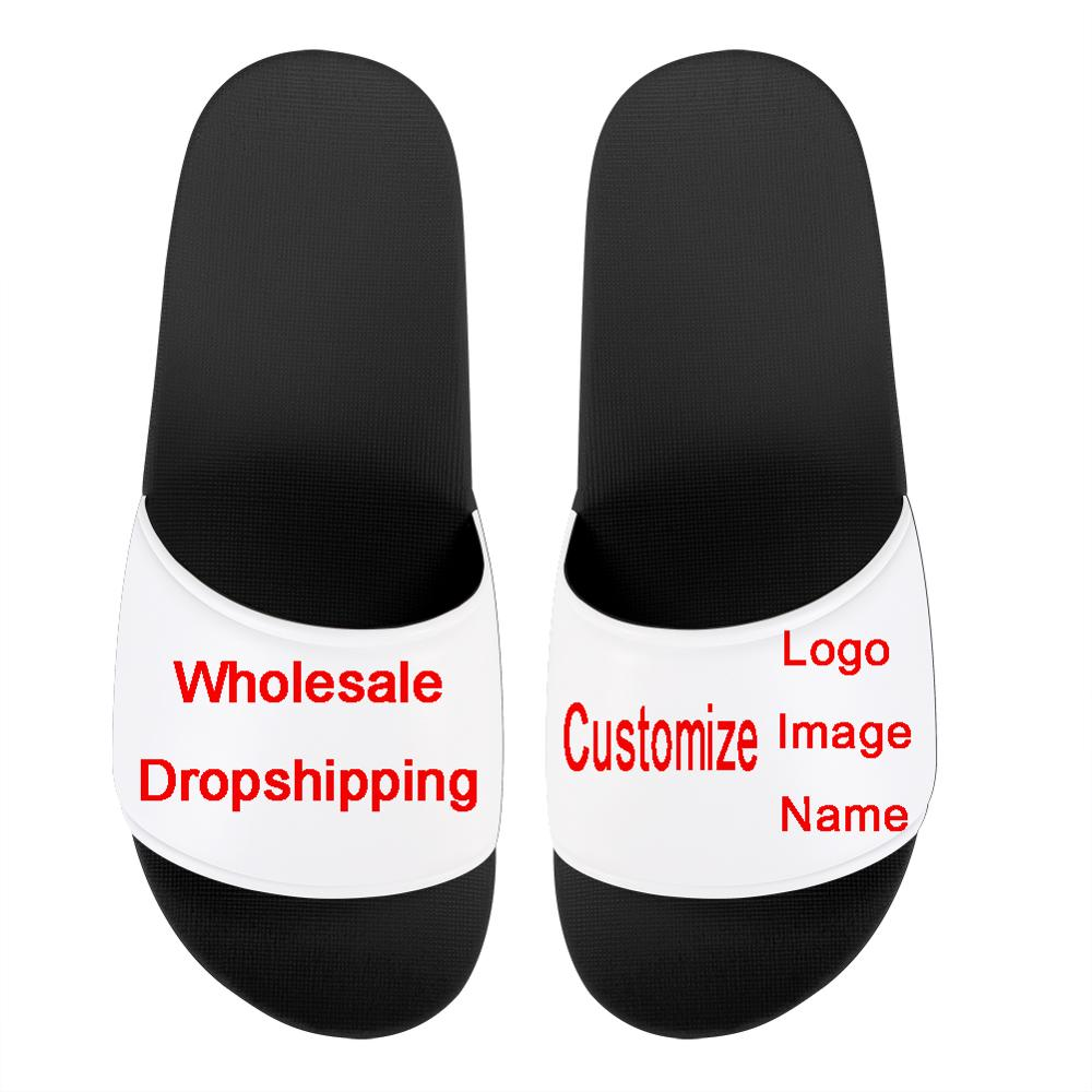 FORUDESIGNS Brand Designer Customize Your Logos/Name/Iamge Print Summer Female/male/Kids Indoor Non-slip Slipper Zapatos Mujer