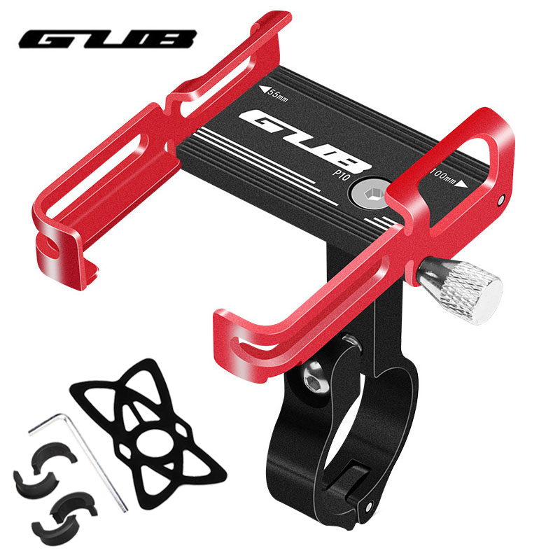 GUB New Aluminum Bike Phone <font><b>Holder</b></font> <font><b>Bicycle</b></font> Phone Mount <font><b>Holder</b></font> Stand Anti Slip Motorcycle Handlebar Clip for 3.5