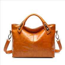 The new 2019 female bag in Europe and the commuter burglar robbed PU handbag vintage oil wax leather handbag single shoulder bag the new europe and the united states imported genuine leather single shoulder bag handbag free shipping page 7
