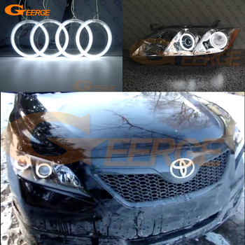For Toyota Camry V40 pre facelift 2006 2007 2008 2009 Excellent Ultra bright illumination CCFL Angel Eyes kit Halo Ring excellent ultra bright cob led angel eyes kit halo ring for renault megane 2 ii 2006 2007 2008 2009 facelift headlight