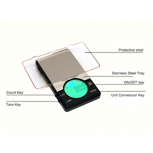 Image 2 - Precision Digital Pocket Weight Jewelry Scale with Large LCD Backlight,500G by 0.01G,Gram Scale