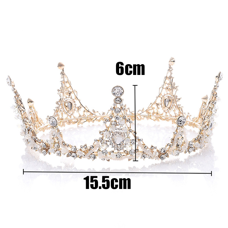 3PCs Princess Crown Diadem for Girls Decoration for Hair Bride Headband on The Head Jewelry Wedding Ornaments Kids Tiara Round in Hair Jewelry from Jewelry Accessories